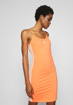 adidas Originals - TANK DRESS - Etuikjole - semi coral/white
