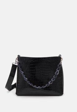HVISK - AMBLE CROCO - Håndtasker - black