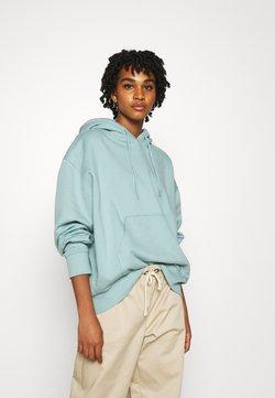 Weekday - ALISA HOODIE - Bluza z kapturem - light green/blue