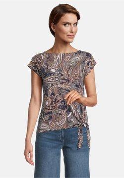 Betty Barclay - T-Shirt print - dark blue/brown
