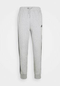 adidas Performance - 3 STRIPES  ESSENTIALS - Jogginghose - medium grey heather/black