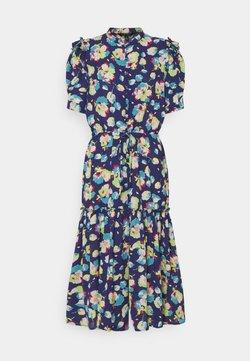 Lauren Ralph Lauren Petite - BAYZEE ELBOW SLEEVE CASUAL DRESS - Blusenkleid - blue multi