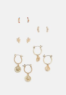 Pieces - PCFABBY EARRINGS 5 PACK - Øredobber - gold coloured