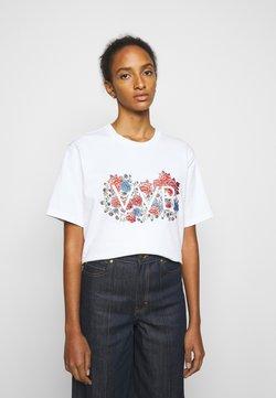 Victoria Victoria Beckham - EMBROIDERED FLORAL LOGO - T-Shirt print - white
