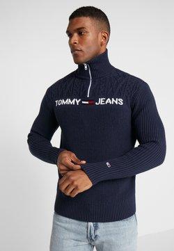 Tommy Jeans - TEXTURED MOCK  - Strikkegenser - black iris