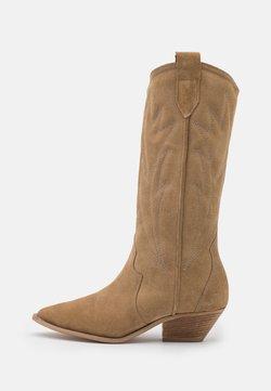L37 - WANNA KNOW U - Cowboy/Biker boots - brown