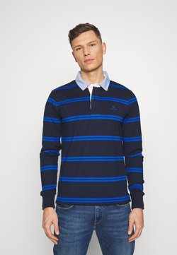 GANT - CONTRAST HEAVY RUGGER - Polo shirt - evening blue
