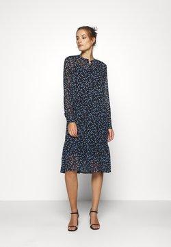 Modström - TINYA PRINT DRESS - Skjortekjole - black/light blue