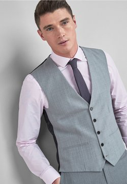 Next - STRETCH TONIC SUIT: WAISTCOAT - Gilet elegante - light grey