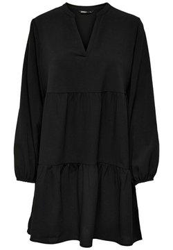 ONLY - KLEID V AUSSCHNITT - Korte jurk - black