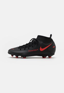Nike Performance - PHANTOM GT CLUB DF FG/MG - Fußballschuh Nocken - black/chile red/dark smoke grey