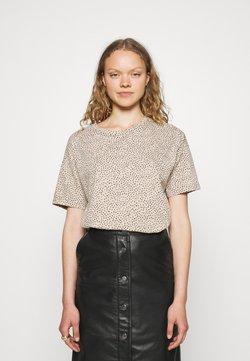 Abercrombie & Fitch - BOYFRIEND TEE MAR PATTERN XXL - T-Shirt print - camel