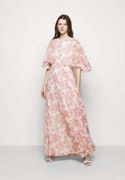 Lauren Ralph Lauren - PRINTED CRINKLE LONG - Suknia balowa - colonial cream/pink