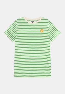 Wood Wood - OLA UNISEX - Camiseta estampada - off-white/green