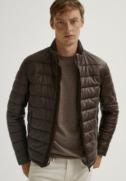 Massimo Dutti - Leather jacket - brown