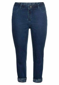 Sheego - Jeans Slim Fit - dark blue denim