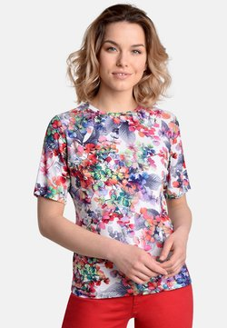 Bicalla - LEAVES - T-Shirt print - red/blue