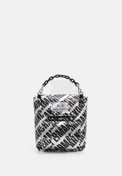 Armani Exchange - SMALL BACKPACK - Reppu - grigio