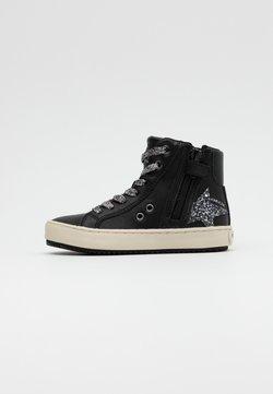 Geox - KALISPERA GIRL - Sneakers hoog - black/dark silver