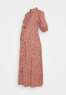 New Look Maternity - PRINT BELTED DRESS - Vestido camisero - pink