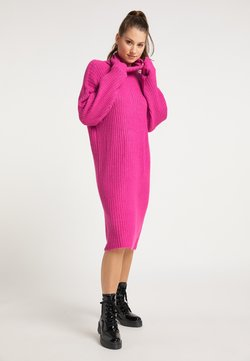 myMo - Vestido de punto - fuchsia