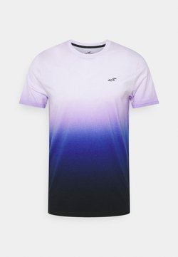 Hollister Co. - CREW OMBRE - T-shirt print - purple/navy