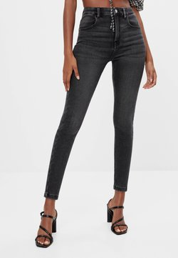 Bershka - Jeans Skinny Fit - black denim