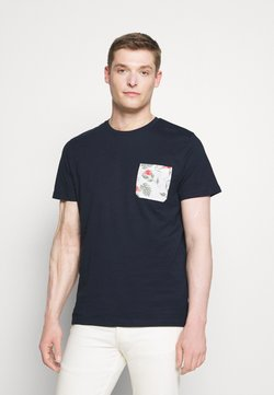 Selected Homme - SLHREGFLORAL POCKET TEE - T-shirt con stampa - navy blazer