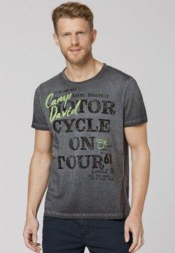 Camp David - MIT VINTAGE- UND PUFF-PRINT - T-Shirt print - black