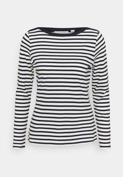 TOM TAILOR DENIM - CONTRAST NECK - T-shirt à manches longues - navy/white