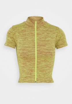 BDG Urban Outfitters - ZIP THROUGH FUNNEL NECK - T-shirt imprimé - space dye khaki