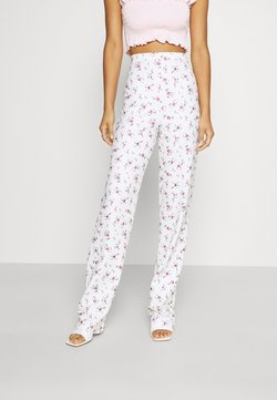Nly by Nelly - PRINT PANT - Stoffhose - white