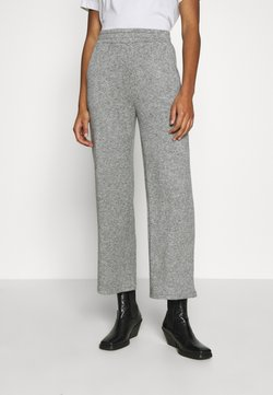 Zign - LOUNGE STRAIGHT PANT  - Trousers - mottled grey