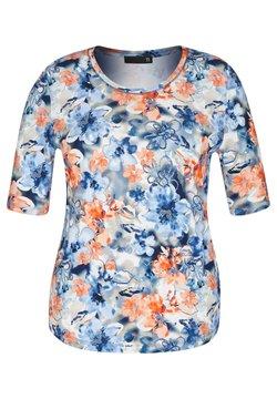 TR - MIT FLORALEM ALLOVERDRUCK UND RUNDHALSAUSSCHNITT - T-Shirt print - blau