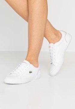 Lacoste - LEROND  - Sneaker low - wihte/light pink