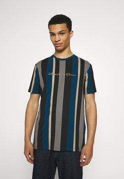 Kings Will Dream - REPTON STRIPE TEE - T-Shirt print - sailor blue/sand/black