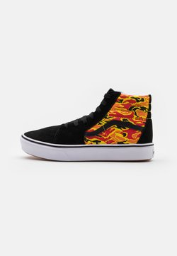 Vans - COMFYCUSH SK8 UNISEX - Korkeavartiset tennarit - black/true white