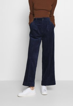 Madewell - PLEATED WIDE LEG - Trousers - dark nightfall