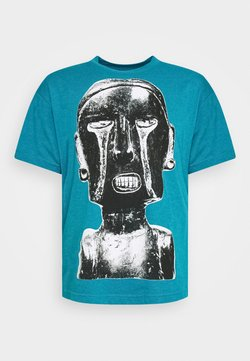 Obey Clothing - EARTH CRISIS - T-shirt z nadrukiem - turquoise