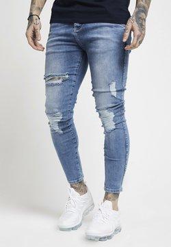 SIKSILK - DISTRESSED SUPER  - Jeans Skinny Fit - mid wash denim
