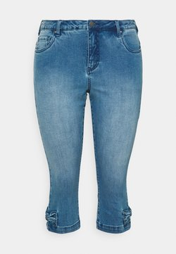 Zizzi - JCATHERINE BOW KNICKERS - Denim shorts - blue denim