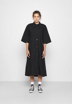 Monki - ELIN DRESS - Skjortekjole - black dark