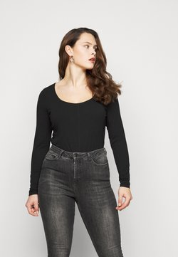 New Look Curves - SEAMED - Maglietta a manica lunga - black