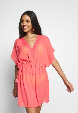 Pour Moi - CROCHET BACK DETAIL COVER UP - Beach accessory - coral