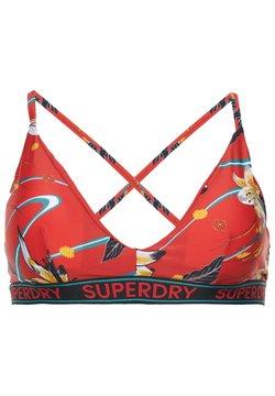 Superdry - LOGO SURF - Bikini-Top - red