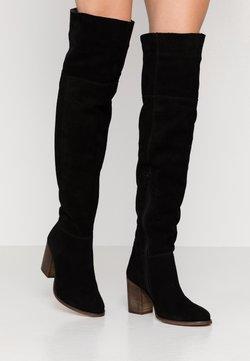 Anna Field - LEATHER BOOTS - Overknee laarzen - black