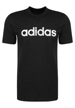 adidas Performance - CAMO LINEAR ESSENTIALS SHORT SLEEVE TEE - Camiseta estampada - black
