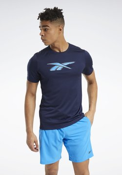 Reebok - WORKOUT READY GRAPHIC T-SHIRT - T-Shirt print - blue