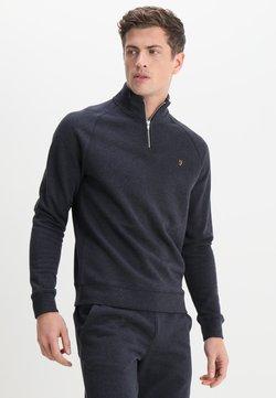 Farah - JIM ZIP - Sweater - true navy marl
