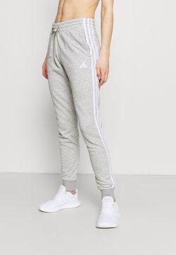 adidas Performance - ESSENTIALS FRENCH TERRY STRIPES PANTS - Jogginghose - medium grey heather/white